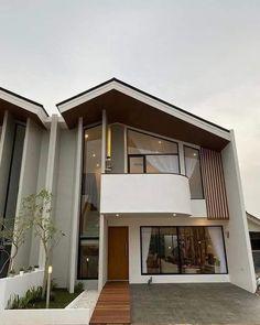 Minimal House Design, Modern Small House Design, Dream Home Design, House Layout Plans, House Layouts, House Architecture Styles, Architecture Design, Japanese Modern House, Model House Plan