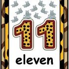 {$3.00}Decorate your jungle themed classroom and help students learn numbers and number words with these posters!Includes 10 posters (numbers 11-20)...