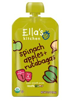 Popeye would love this one... spinach, apples, + rutabagas!