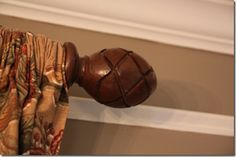 make curtain rods out of PVC and fence post finials