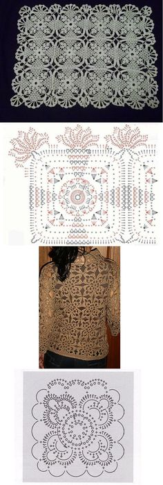 lacy crochet motifs - these are quite pretty!: