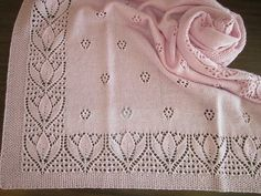 Ravelry: Project Gallery for Tulips & Rosebuds Baby Blanket (CH51) pattern by Eu...