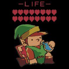 """Legend of Zelda - Link's Blue Potion"" T-Shirts & Hoodies by DaKirbyDood | Redbubble"