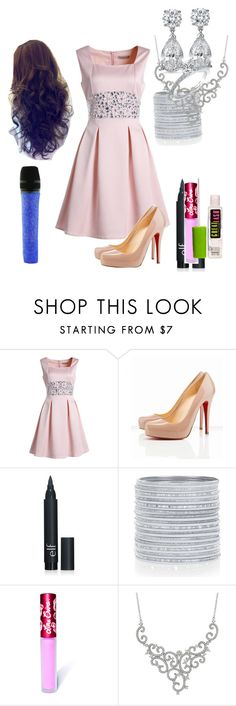 """""""Lillian Lockstar In """"Royals"""""""" by shestheman01 ❤ liked on Polyvore featuring Christian Louboutin, Lime Crime, Swarovski, women's clothing, women's fashion, women, female, woman, misses and juniors"""