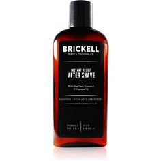 Brickell Instant Relief Men's Aftershave Lotion- 4 oz.