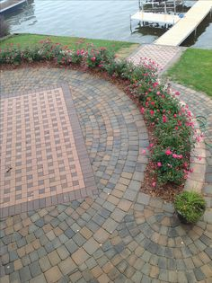 Brick patio- landscape and design by Rosemont Nursery