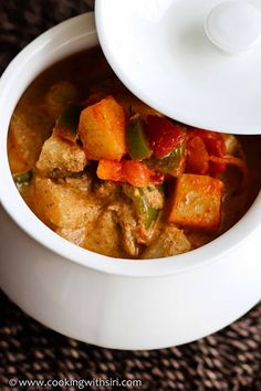 Mixed Vegetable Korma (Fried paneer may be replaced)