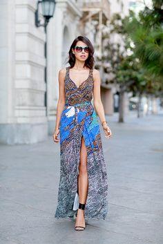 Who: Annabelle Fleur of Viva Luxury  What She's Wearing: Diane von Furstenberg Sonia Silk Jersey Maxi Gown ($598)