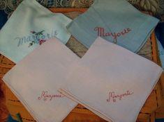 235 Best NAME HANKIES! Vintage Handkerchiefs with First