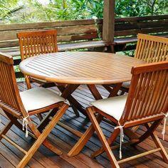 New teak garden furniture hartlepool exclusive on miral iva home decor Teak Garden Furniture, Pallet Furniture, Outdoor Furniture Sets, Outdoor Decor, Pine Table, Teak Oil, Auckland, Discount Furniture, Modern
