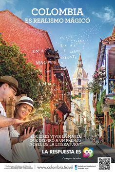 LA MAGIA QUE INSPIRÓ A UN PREMIO NOBEL DE LA LITERATURA | Proexport - Colombia es Realismo Magico Travel General, Colombia Travel, Advertising, Ads, Win Prizes, Nobel Prize, Shakira, Literature, Magic