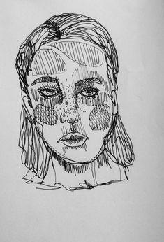 Portrait Illustration by Rose Stagg  https://www.etsy.com/uk/shop/RoseStagg?ref=hdr_shop_menu