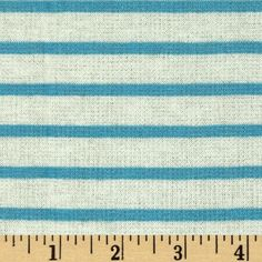 Designer Yarn Dyed Stripe Double Pique Jersey Knit Turquoise/White from @fabricdotcom  This versatile jersey knit fabric is perfect for creating T-shirts, tops and dresses with a lining. It features a nice drape, yarn dyed horizontal stripes and 25% stretch across the grain.