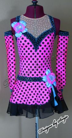 Ice Skating Costume designed and created by Sonja Ballin. All Designs copyright ©2014, Sonja Ballin of Tampa Bay, Florida. www.sonjadesigns.com Check us out  (and like) on Facebook:  https://www.facebook.com/pages/Designs-By-Sonja/220737151285770