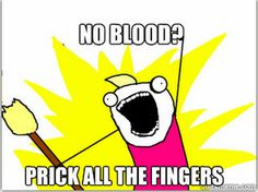 I have so much scar tissue from testing my blood sugar, it's not even funny. #diabetes