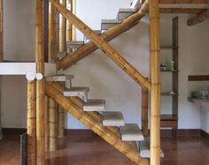 casas guadua - Google Search Bamboo Architecture, Sustainable Architecture, Bamboo House Design, Bamboo Building, Geodesic Dome Homes, Bahay Kubo, Jungle House, Bamboo Structure, Bamboo Construction