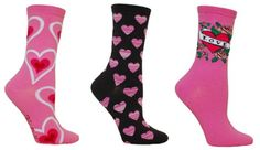 Image detail for -... , co-workers, moms, and sisters heart socks for the day of love