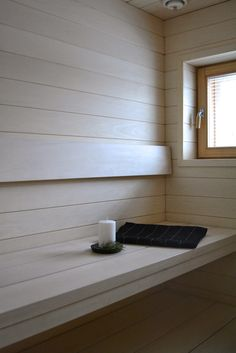Beautiful light sauna by mittapuu - moderni puutalo