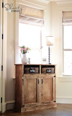 Console table, from the lovely ladies at Shanty 2 Chic blog. Includes instructions on building your own!