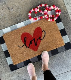 Love Heart Valentine's Doormat