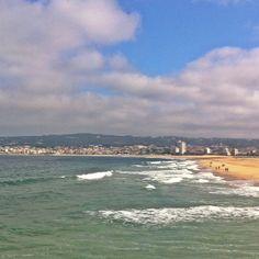 Figueira da Foz,Portugal . The beach.