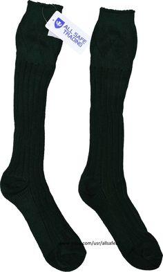 New Scottish Irish Green Kilt Hose Socks Men Sporrans Flashes #AllSafe #IrishKiltHose