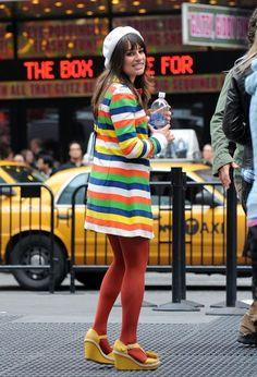 Lea Michelle in technicolor