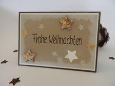 Deko und Accessoires für Weihnachten: Weihnachtskarte handgemacht made by Stempeldorf via DaWanda.com