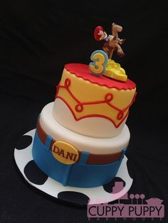Jessie Toy Story Cake With Real Toy Topper Cakes For