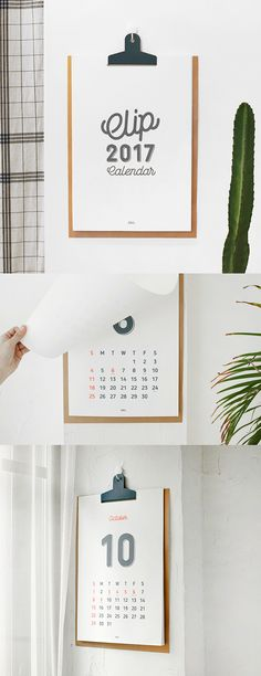 Stationery lovers, rejoice! We've found the perfect wall calendar for you. This 2017 Clip Calendar is cute, simple, and designed to resemble a clipboard! It's the perfect calendar for the office or home of any stationery addict. ^.~*