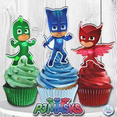 PJ Masks Cupcake Toppers PJ Masks Cake Toppers PJ by PRINTSbyYohan