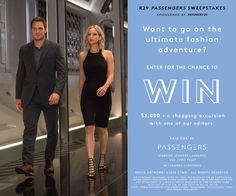 12/27. Win a $3,000 American Express Card in the Sony Passengers Sweepstakes