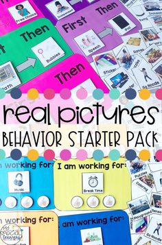 This REAL Photo Special Education Behavior Starter Pack is a great way to start your school year off on the right foot! Use these visuals with your students with disabilities to help them know what to expect and succeed within the classroom. Special Education Behavior, Classroom Behavior, Autism Classroom, Self Contained Classroom, Pinterest Board, Students, Teaching, Community, Success Story