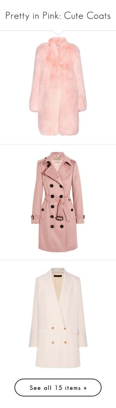 """Pretty in Pink: Cute Coats"" by polyvore-editorial ❤ liked on Polyvore featuring pinkcoats, outerwear, coats, jackets, fur, pink, altuzarra, pink coat, fox fur coat and light pink coat"