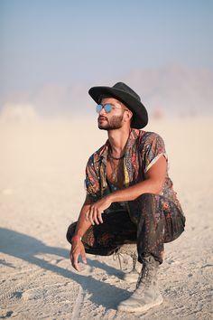 Hippie burning man