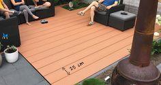 Welk type plank heb ik nodig?   Composiet Vlonderplanken : HOMINGXL Voorbeeld brede vlonderplank van 25 cm (Duowood XWB Havana) Plank, Deck, Patio, Outdoor Decor, Home Decor, Bulletin Boards, Terrace, Front Porch, Decks