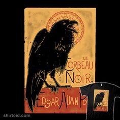 Raven Necklace Poe Nevermore Goth Jewelry Literary Hanger Literary Jewelry Sonogram Charm Crescent Moon Poes Raven Pendant