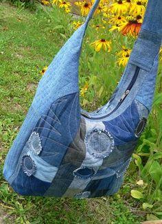 džínová patchworková taška Textiles, Jeans, Denim, Fashion, Scrappy Quilts, Moda, Fashion Styles, Fabrics, Fashion Illustrations