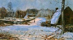 Future and Future Vision: Maxime Maufra: Cottages in the Snow, 1891