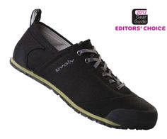 Evolv Cruzer -chill approach(?) or descent shoe - more likely a day shoe at the cliff and post-climb bar shoe, maybe city shoe. $75 like that too.