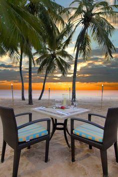 Dinner on the beach in the Caribbean. Book your next all inclusive trip to the caribbean on www.click2xscape.com