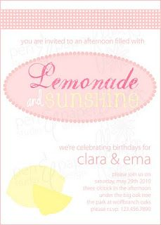 Lemonade and Sunshine Party Invite