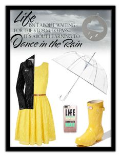 """""""In Life, You Dance"""" by stylishu ❤ liked on Polyvore featuring Yumi, WALL, Hunter, The North Face, ShedRain and Casetify"""