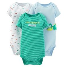 Just One You™Made by Carter's® Newborn Boys' 3 Pack Dinosaur/Car Bodysuit Set Newborn Boy Clothes, Newborn Boys, Baby Number 2, Target Baby, Future Boy, Our Baby, Baby Fever, Baby Boy Outfits