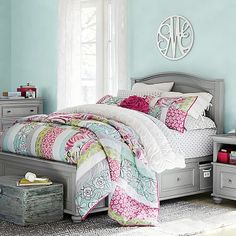 Chelsea Storage Bed #pbteen this whole bedroom set is super cute!