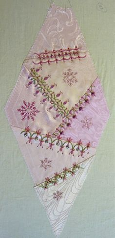 I ❤ crazy quilting, beading & ribbon embroidery . . . Gorgeous July 2012 CQJP Block ~By Susie W