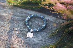 Blue stretch bracelet, Bead Bracelets for Women, Blue bohemian bracelet, Natural Stone Bracelet, Sea Bracelet, Ocean Bracelet Beach Bracelet by MysteriousForests on Etsy