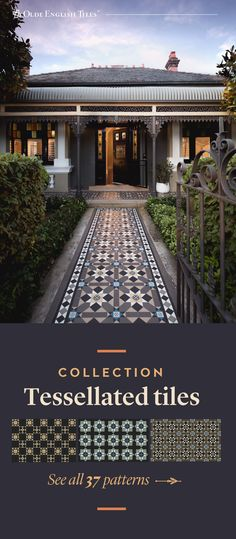 Tiled pathway ideas Source by MYHBeautiful we hate news more than you do. Terrace House Exterior, Facade House, Exterior Colors, Exterior Design, Porch Tile, Front Verandah, Queenslander, Victorian Terrace, Australian Homes