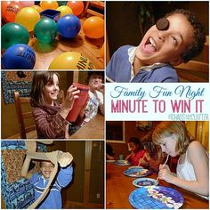 Total: we had a Family Fun Night with a Minute to Win It theme. It was extremely easy to come up with the games. For our party, I used a Minute to Win It party bucket, but it is no longer being sold, so I came up with … Xmas Games, Christmas Party Games, Fun Games, Games For Kids, Holiday Parties, Christmas Ideas, Youth Group Games, Family Games, Family Activities