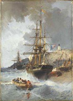 NOEL Jules Achille, artiste de marines 1810 - 1881 ( France)